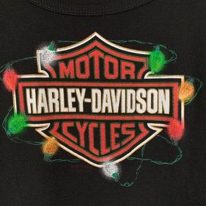 Harley Davidson Shirt Womens XL CHRISTMAS LIGHTS